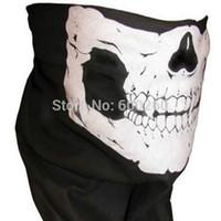 Wholesale Faces Sales Orders - Hot sales Skull Bandana Bike Motorcycle Helmet Neck Face Mask Paintball Ski Sport Headband free shipping order<$18 no tracking
