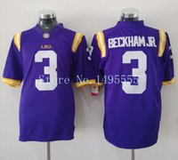 Wholesale Factory Outlet Fasts - Factory Outlet- 2015 New LSU Tigers #3 Odell Beckham JR College Football Jerseys NCAA Authentic Double Stitched Logos Top Quality Fast Shipp