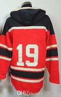 Wholesale Men Wholesale Apparel - 2014 Red Wings Yzerman 19 Hockey Hoodies With C Patch Mens Discount Ice Hockey Jackets Comfortable Hot Sale Outdoor Apparel