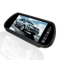 "Wholesale Lcd Screen Camera Input - 7"" inch Wide Touch Screen TFT LCD Car Dvr Rearview Camera 2-CH Video Input Car Rearview Color Mirror Monitor"