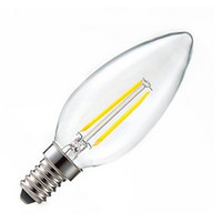 Wholesale candle bulbs for sale - Group buy 5x degree W W E14 E12 filament candle LED lamp V V V super bright filament bulb lights replace tungsten filament lamp