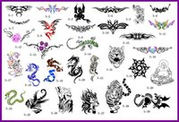 Wholesale Hot Tattoo Book Pictures - Wholesale-free shipping lastest new fashion Hot unit5 golden phoenix temporary AIRBRUSH TATTOO STENCIL BOOK 30 pictures