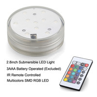 Wholesale battery operated led light base resale online - Submersible led light base Hookah shisha waterpipe accessories lights color changing with remote control battery operated lights