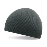 Wholesale Men Cap Small - Wester Trendy Skull Caps High Flexibility Slim Ribbed Knit Hats Hip-Hop Fashion Small Beanie Acrylic Cap 6 Colors 20pcs