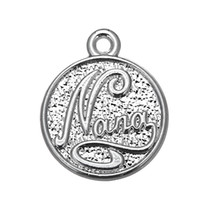 Wholesale Nana Gold - 50pcs a lot Zinc Alloy Antique Silver Floating Nana Round Good Luck Pendant Charms For Gift DIY Jewelry