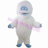 Wholesale Snow White Costume Mascot Fancy - White Snow Monster Yeti Mascot Costume Adult Abominable Snowman Monster Mascotte Outfit Suit Fancy Dress EMS free shipping