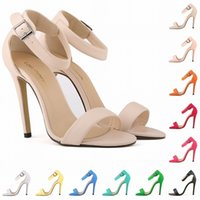 sandalias de tacon imagenes al por mayor-Real Image Open Toe One Strap Thin High Tacones cubiertos Zapatos de Tacón Mujeres 2015 Summer Style Bayan Sandalet Black Fringe Sandals