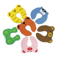 Wholesale animal door stops for sale - Child kids Baby Animal Cartoon Jammers Stop Door stopper holder lock Safety Guard Finger Protect