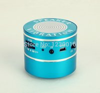 Wholesale Suction Cup Vibration - Wholesale-Fast Shipping 10W Wireless Bluetooth Vibration Speaker With MIC FM Radio TF Card Reader Suction Cup