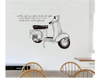 Wholesale White Wall Quote Decals - art bar home decor for kids rooms Black and white motorcycle Quote wall sticker 5set lot free shipping stickers wall Vinyl decal