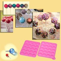 Wholesale Chocolate Lollipop Molds Wholesale - 1Pcs Mini silicone candy molds Anself Silicone Lollipop Candy Chocolate Mold Maker Cake Cooking Candy Making Tools DHL H15935