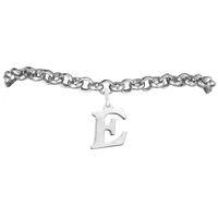 Wholesale E Chain - Latest Design Lover Jewelry Letter E Charm Rolo Chain Bracelets 100pcs A lot Link Chain Antique Silver Plated
