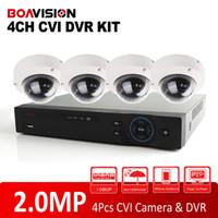 Wholesale Dahua Dvr 4ch - Dahua Solution HD CVI System 1080P 4CH CVR Supports 2MP Video Recording +4PCS 1080P Dome HDCVI Camera CCTV HD CVI DVR System Kit