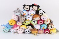 Nueva calidad superior Peluches TSUM TSUMS Mickey Minnie Winnie Kawaii Dolls animado Screen Cleaner móvil Llavero suspensión del bolso para el teléfono móvil