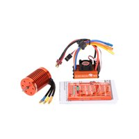 Wholesale Brushless Combos - Brand New SKYRC 9T 4370KV Brushless Motor+60A Brushless ESC with 5V 2A BEC Linear Mode+Program Card Combo Set for 1 10 RC Car order<$18no tr
