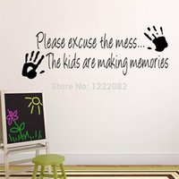faire de l'art mural de vinyle achat en gros de-WHOLESALE Making Memories sticker mural en vinyle décoration stickers muraux mur salle de bande dessinée amovible Z002 pour les enfants de devis créatif art 5.0