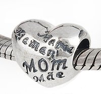 Wholesale Six Flags - DIY Jewelry Wholesale 925 sterling silver Bead Six Language Mum European charms Compatible with Snake chain charm Bracelets