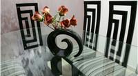 jarrones de naranja al por mayor-Floreros de moda moderno florero de cerámica para la decoración del dormitorio florero de mesa blanco rojo negro naranja opción de color
