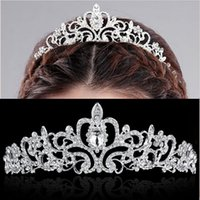 Wholesale Silver Hair Accesories - Hot Sale Bridal Crowns With Crystal Beads 2016 Korean Style Wedding Party Accessory Bride Tiaras & Hair Accesories Free Shipping Cheap