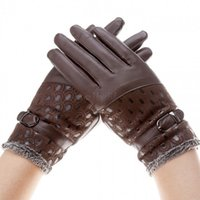 Wholesale Cheap Leather Mittens - Cheap Warm Wrist Winter Mittens Women Leather Gloves 6 Colors Female Elegant Lady B16