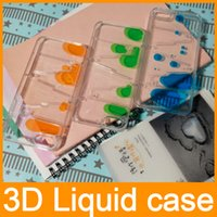Wholesale Iphone Maze - i5 i6 Clear Case for iPhone 5 5S 5G 6 4.7'' Fun Dynamic Flowing Liquid Magic Maze Water Drops Quicksand Transparent Phone Hard 3D Back Cover