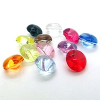 Wholesale 12 mm High quality acrylic color transparent crystal buttons candy color clothing OL shirt dedicated buttons