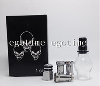Wholesale Ego Box Set - Globe Glass Tank Set Dry Herb Vaporizer Clearomizer Atomizer with Retail Box Two Extra metal Coil Heads for E-Cig eGo Electronic Cigarette