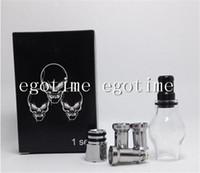 Wholesale Electronic Cigarette Retail Box Ego - Globe Glass Tank Set Dry Herb Vaporizer Clearomizer Atomizer with Retail Box Two Extra metal Coil Heads for E-Cig eGo Electronic Cigarette