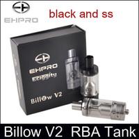ehpro zerstäuber großhandel-Ehpro Billow V2 RTA 5ml Regenerierbarer Tank Zerstäuber Kupferkontakt Dual AFC System mit 4 Hacken DIY Basis Auf Lager