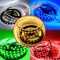 Wholesale led 8mm white - Edison2011 100M 3014 LED Flexible Strip 12V DC Ribbon Tape Home Decoration Lighting Waterproof 5M 60leds m 300led SMD 8mm Width
