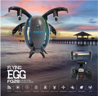 Wholesale Angle Photography - Camera Drones FQ28WIFI egg-shaped UAV, mini-folding aerial photography, aircraft remote control aircraft toys DHL free shipping!