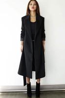 Wholesale Womens Fitted Long Jackets - Womens Winter Fashion Long Wool Blend Coat Thick Jacket Warm Parka Overcoat Retro Wool Blend Slim Fit Warm Windbreak Parka