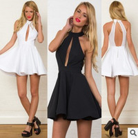 Wholesale night club mini clothes for sale - Women clothes korean dress party evening Sexy women summer casual sleeveless party evening cocktail short mini new dress women dress