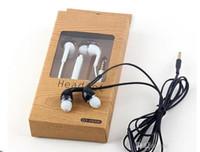 control de volumen de micrófono de auriculares para iphone al por mayor-Auriculares estéreo S4 S6 en la oreja Auriculares con micrófono y control de volumen Auriculares para Samsung Galaxy Universal para teléfonos Android iphone