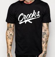için sahte kaleler toptan satış-Crooks Ve Kaleler T Shirt Erkekler Kısa Kollu Pamuk Adam T-Shirt CROOKS Mektup Mens t gömlek Tops Tee Gömlek