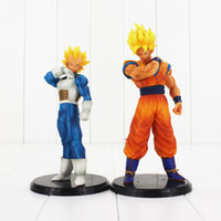 Wholesale Plastic Model Soldiers - Ball Z Resolution of Soldiers ROS Son Goku Vegeta dragon ball Super saiyan PVC Figure Collectible Model Toy
