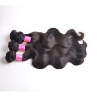 peru saç ürünleri vücut dalgası toptan satış-Üst Saç Ürünleri Ucuz Bakire Perulu Vücut Dalga Saç 3 Adet Lot Perulu Saç Uzantıları Malezya Hint Kamboçyalı Bakire Remy Saç