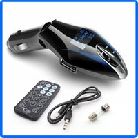 Wholesale Chinese Music Traditional - Car Wireless MP3 FM Transmitter Modulator LCD MP3 Music Player USB Support 32G TF SD MMC with Remote Controller