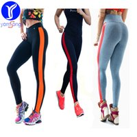 Wholesale Slimming Legs Shaper - 2016 Women Clothing Sports Pants Elastic Cotton Legging for Yoga Fitness Gym New Athletic Slim Shaper Bottoms Patchwork Tights Casual L109