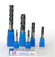 Wholesale Cnc Spiral Router Bit - 10pcs D1 D1.5 D2 D2.5 D3 D3.5 D4 D5 D6 D8 4 Flutes Spiral Bit Milling Tools Carbide CNC End mill Router bits