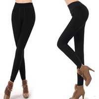 Wholesale Sexy Warm Leggings Tights Winter - S5Q Women's Leggings Thick Warm Fleece Lined Fur Winter Tight Sexy Pencil Pants AAAEHF