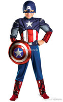 Wholesale Supplies For Children S Parties - Wholesale-Cosplay Costume avengers alliance luxury ensemble costumes for the children Halloween party decoration supplies children's