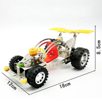 Wholesale diy metal car - Carden Car Model Building Blocks DIY Metal Stainless Steel 3D Assembly Toys For Baby Early Childhood Toy Bricks New LX018 B