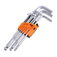 Wholesale Allen Wrench Metric Set - LS4G 9PCS Durable Reinforced Toughen Metric Ball Ended Hex Allen Key Wrench Set