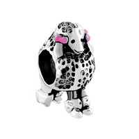 Wholesale Poodle Jewelry - Personalized jewelry Poodle Puppy Dog European bead metal charm ladies bracelet with big hole Pandora Chamilia Compatible