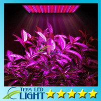 panel de luz led rojo al por mayor-Led Grow Lamp 225 LED Planta hidropónica Grow Light Panel Rojo / Azul 15W LED Planta Grow Lights 225 LEDs Panel Lights 110-220V 5