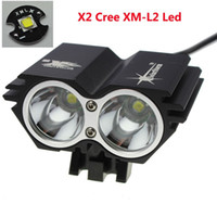 Wholesale rechargeable cree bike light online - SolarStorm X CREE XM L U2 LED Lm LED Front Head Bicycle Bike Light Headlamp with mAh Battery Charger