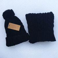 Wholesale Women Suit Designers - Brand Designer Hats & Scarves Sets Warm Beanie Set Pompom for Men Women Hat Scarf Suit