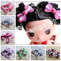 Wholesale Bobby Bow - 100pcs 2INCH DIY mini Children's Hair Accessories Baby Girls Sweet hair bows clips hairpin Alligator clip jewelry bobby Barrette HD3304