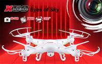 drone syma x5c 2.4g toptan satış-Ücretsiz dropshipping mevcut Syma X5C-1 Kaşifler Quadcopter Drone 2.4G 4CH RC Modu 2 HD Kamera LCD RTF ile 1 yıl garanti için